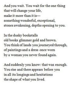 Rilke...it is enough. i am enough.