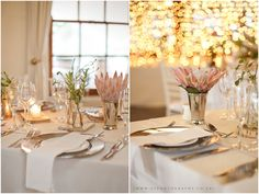 Photo by ST Photography Flowers and Decor by Venue - Rickety Bridge Rickety Bridge, Wedding Venues, Wedding Ideas, Photography Flowers, Table Settings, Wine, Table Decorations, Furniture, Home Decor
