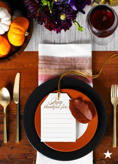 Get creative when setting the table for Thanksgiving this year! Take it up a notch by putting a twist on the traditional and add note cards to the tablescape asking guests to share what they are thankful for. It's simple, elegant and spirited. Shop dinnerware, glassware, flatware and more for your table on macys.com now!
