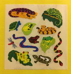 Sandylion Lizards Frogs Snakes Stickers Strip KK341