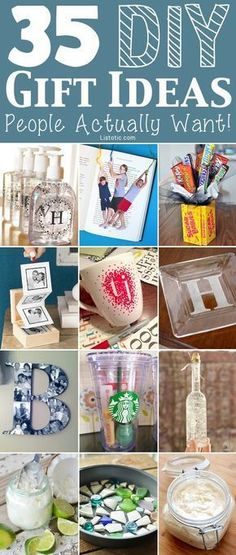 Easy DIY cheap gift ideas for Christmas, birthdays, boyfriends, girlfriends, family, friends and more! These simple, last minute homemade crafts and projects make for special gifts anyone can do! Creative ideas to sell too! Listotic.com