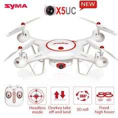 79.12$  Watch now - http://aliq63.worldwells.pw/go.php?t=32738229423 - Upgrade X5C Latest SYMA X5UC Helicopter With 2.0MP HD Camera Drone  Hover Function Headless Model One Key Land RC Quadcopter  79.12$