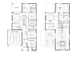 New Home Designs - at least 4 beds, no more than 4 beds page 3 Coastal House Plans, 4 Bedroom House Plans, Family House Plans, New House Plans, Dream House Plans, Modern House Floor Plans, Home Design Floor Plans, Contemporary House Plans, The Plan