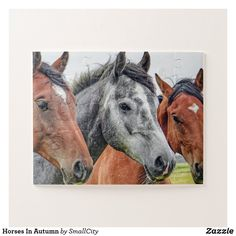 Horses In Autumn Jigsaw Puzzle Equestrian Outfits, Equestrian Style, Cute Horses, Beautiful Horses, Barn Animals, Make Your Own Puzzle, Custom Gift Boxes, Horse Farms, Wild Horses