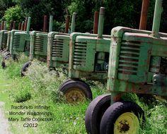 Tractors to Infinity! #John Deere #photography #prairie