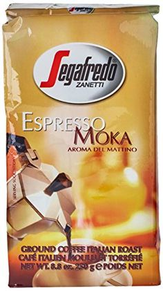 Segafredo Espresso Moka Ground Coffee 8.8oz/250g X 4 ** Click on the image for additional details. #GroundCoffee Moka, Coffee Drinks, Gourmet Recipes, Brewing, Cravings, Canning, Image Link, Relax, Packaging