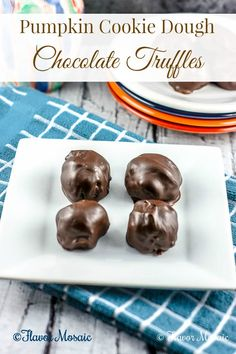Pumpkin Cookie Dough Chocolate Truffles | Flavor Mosaic