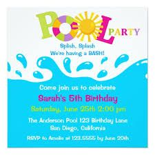 Pool Party Free Printable Party Invitation Template Greetings - Swimming party invitation template free