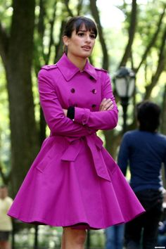 Ted Baker London Double Breasted Trench Coat (in purple) (2013)
