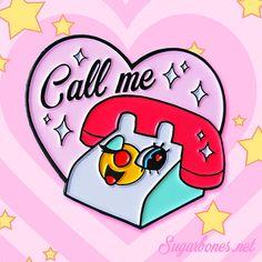 Call me ♥ enamel pin - Thumbnail 1