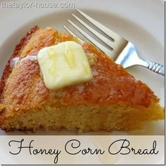 Sweetened with a flavor that your family will love, this Homemade Honey Corn Bread Recipe is the perfect addition to any meal! @thetaylorhouse