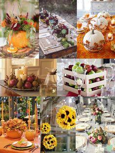 #Autumn #Wedding Table Centrepiece Ideas Mood Board from The Wedding Community