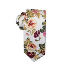 Prom Photos, Colorful Roses, Wedding Ties, Skinny Ties, Green And Orange, Floral Tie, Floral Prints, Retro, Handmade