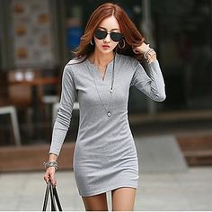 Cotton T-shirt/dress - 3 colors - USD $ 16.79