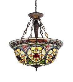 Chloe Lighting CH33391VG22-UH3 Tiffany-Style Victorian 3 Light Inverted Ceiling Pendant 22-Inch Shade, Multi-Colored, Pendant Lights - Amazon Canada