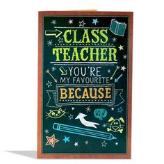How about making your class teacher feel special in a unique way Express your heartfelt gratitude towards her or him with this lovely card to tell them how much. Class Teacher, Your Teacher, You're My Favorite, My Favorite Things, Bad Grades, Teachers Day Gifts, Teachers' Day, Messages, Feeling Special