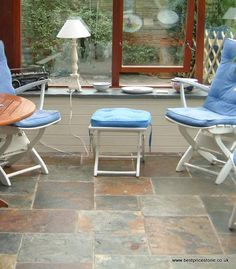 Rustic Multicolour Slate Flooring, Outdoor Tables, Outdoor Decor, Wall Tiles, Bar Stools, Chinese, Outdoor Furniture, Rustic, Home Decor