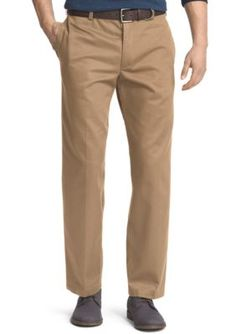 IZOD Englsh Khk Classic Fit American Chino Flat Front Wrinkle-Free Pants
