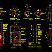 Detalle De Chimenea (dwg - Dibujo de Autocad) - Estufas De Fuego Abierto - Hogares