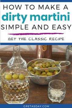 A dirty vodka martini is a classic cocktail everyone should know how to make. Learn the easy drink recipe, and what makes a martini dirty.