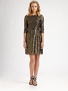 "Sarah Vickers - ""Classy Girls Wear Pearls"" Christmas dress.    Shoshanna - Minka Dress at Saks!!"