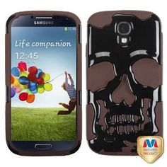 Amazon.com: MYBAT Solid Black/Brown Hybrid Protector Cover for SAMSUNG I337 (Galaxy S 4): Cell Phones & Accessories