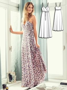 Wrap Dress 07/2016 #102 http://www.burdastyle.com/pattern_store/patterns/wrap-dress-072016?utm_source=burdastyle.com&utm_medium=referral&utm_campaign=bs-tta-bl-160627-HomeSweetHomeCollection102