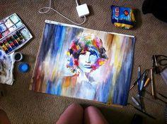 Jim Morrison portrait #jimmorrison #psychedelic #watercolor #portrait #art