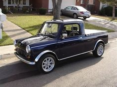 1979 Austin Mini Cooper Pick-Up Truck. I dont think it gets cuter than this.....:)