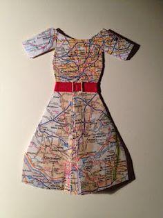 Miniatura - vestido mapa mundi
