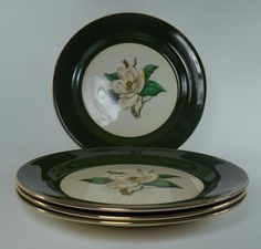 "Jade Rose 10¼"" Dinner Plates, $31.99/set of 4 at china_finders_outlet on ebay"