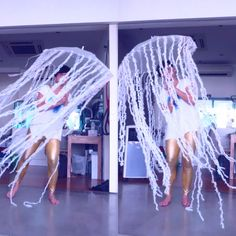 Very proud of my made-with-Daiso jellyfish costume!