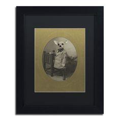 J Hovenstine Studios 'Dog Series #3' Matte, Framed Canvas Wall Art