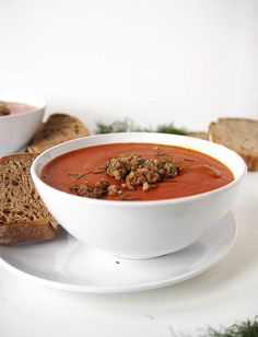 This Tomato Sausage Fennel Soup recipe is a quick, fun spin on a classic favorite soup. Fall Recipes, Whole Food Recipes, Soup Recipes, Vegetable Potato Soup, Broccoli Cheese Soup, Bowl Of Soup, Soup And Salad, One Pot Meals, Kitchens
