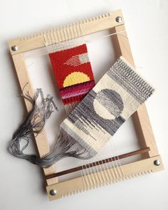 Weaving Textiles, Tapestry Weaving, Loom Weaving, Weaving Wall Hanging, Work Tools, Textile Design, Fiber Art, Christmas Stockings, Workshop