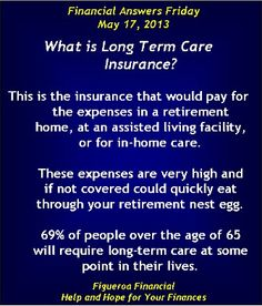 Welcome to Financial Answers Friday (May 17, 2013)! The topic today: Long Term Care Insurance