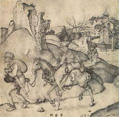 Martin Schongauer. Escape to Egypt. c. 1473/1475. Staatliche Kunstsammlungen Dresden. Dresden, Germany. Bildindex der Kunst und Architektur.