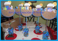 """Centro de mesa para Bautizo. Tema: """"Arca de Noé"""""""