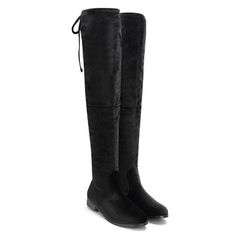 Apricot Suede Lace-up Back Knee High Boots from mobile - US$59.95 -YOINS