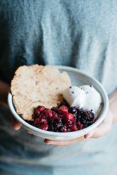Chickpea Pancake & Berry Bowl | Crepes & Pancakes