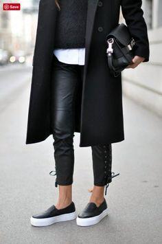 loafer platform outfit