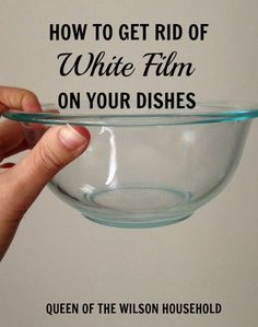 Do your dishes come out of the dishwasher with a nasty white film? Check out how to get rid of it by simply using comon household items!