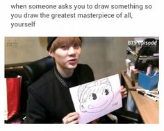 Sometimes he draws like a five year old and then there's this wth