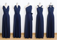 Navy Blue Maxi Infinity Dress, Convertible Bridesmaid Dress, cheap prom dress, Evening Dress,Multiway Dress, Wrap Dress, formal Dress by CharmAngell on Etsy https://www.etsy.com/uk/listing/469536551/navy-blue-maxi-infinity-dress