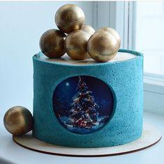 Торт @selfsweets_spb . ❤️ Спасибо, что вы подписаны на нашу страницу 🙏 Мы будем очень признательны, если вы поставите «Мне нравится», а… Christmas Log, Christmas Treats, Christmas Baking, Christmas Cake Decorations, Holiday Cakes, Creative Cake Decorating, Creative Cakes, Cake Cookies, Cupcake Cakes