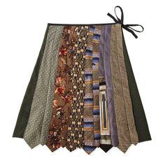 Vintage Tie Skirt - fun way to recycle old ties