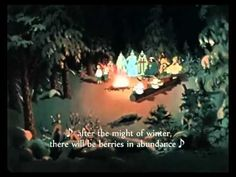 """""""Twelve Months"""". Russian Cartoon with English subtitles  - Part 2/4."""
