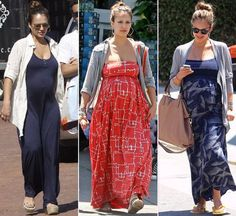 Want To Get Jessica Alba's Amazing Maternity Style? love that effortless style when pregnant. long dresses and long skirts is a … Cute Maternity Outfits, Stylish Maternity, Pregnancy Outfits, Mom Outfits, Maternity Fashion, Maternity Dresses, Celebrity Maternity, Maternity Styles, Maternity Clothing
