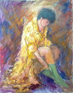 """Woman"". Oil on canvas by Venezuelan artist Gregorio Camacho"