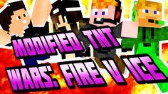Minecraft - Modified TNT Wars: Fire V Ice [ROBBANÁSOK!!!] Minecraft, Ice, Ice Cream